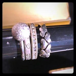 Lot 4 Vintage Silver Rings